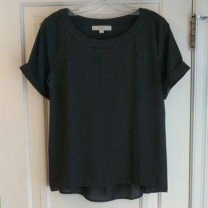 Beautiful short sleeves black blouse ❤️